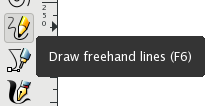Draw freehand lines
